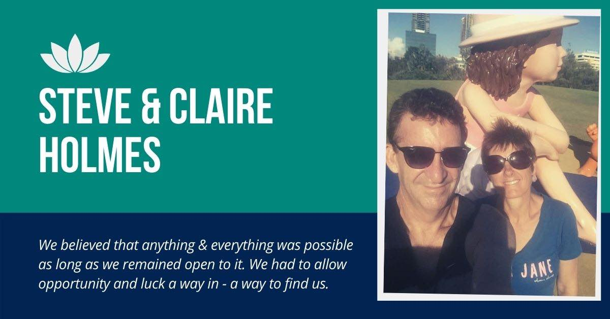 Steve and Claire Holmes